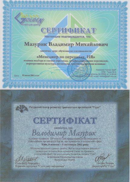 Сертификат по специальности менеджер по персоналу